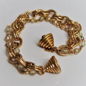 Sarah Cov Double-Strand Chunky Bracelet